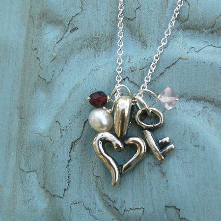 Key to my Hearts Necklace - Bella Branch