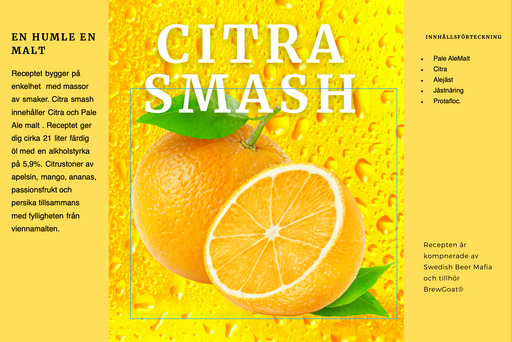 Citra smash when you like to brew your beer at home
