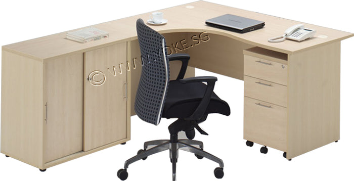 ERGONOMIC TABLE + CABINET