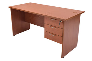 Writing Table With 3 Fixed Drawers - Cherry