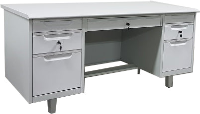 Double Pedestal Metal Desk