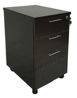 Mobile 2+1 Drawers Pedestal - Wenge
