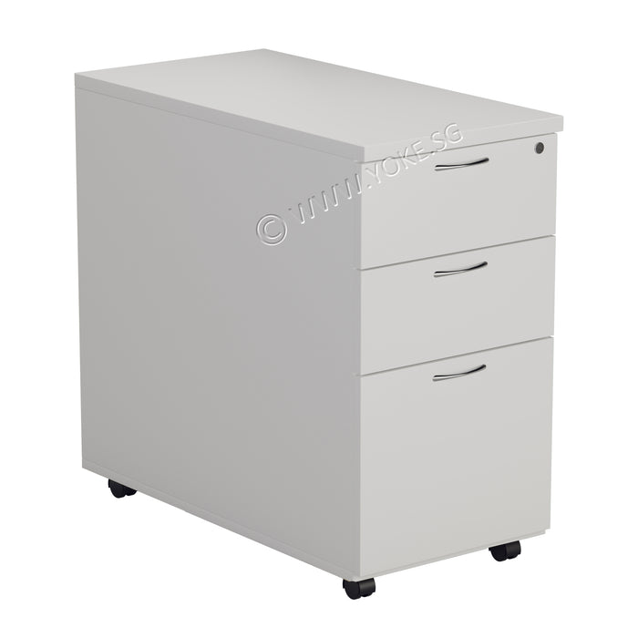 Mobile 2+1 Drawers Pedestal - Grey