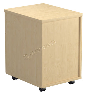 Mobile 3 Drawers Pedestal - Beech