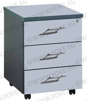 Mobile 3 Drawers Pedestal - Grey