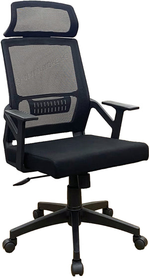 YOE 18H - High Back Mesh Chair With Headrest (FREE DELIVERY)