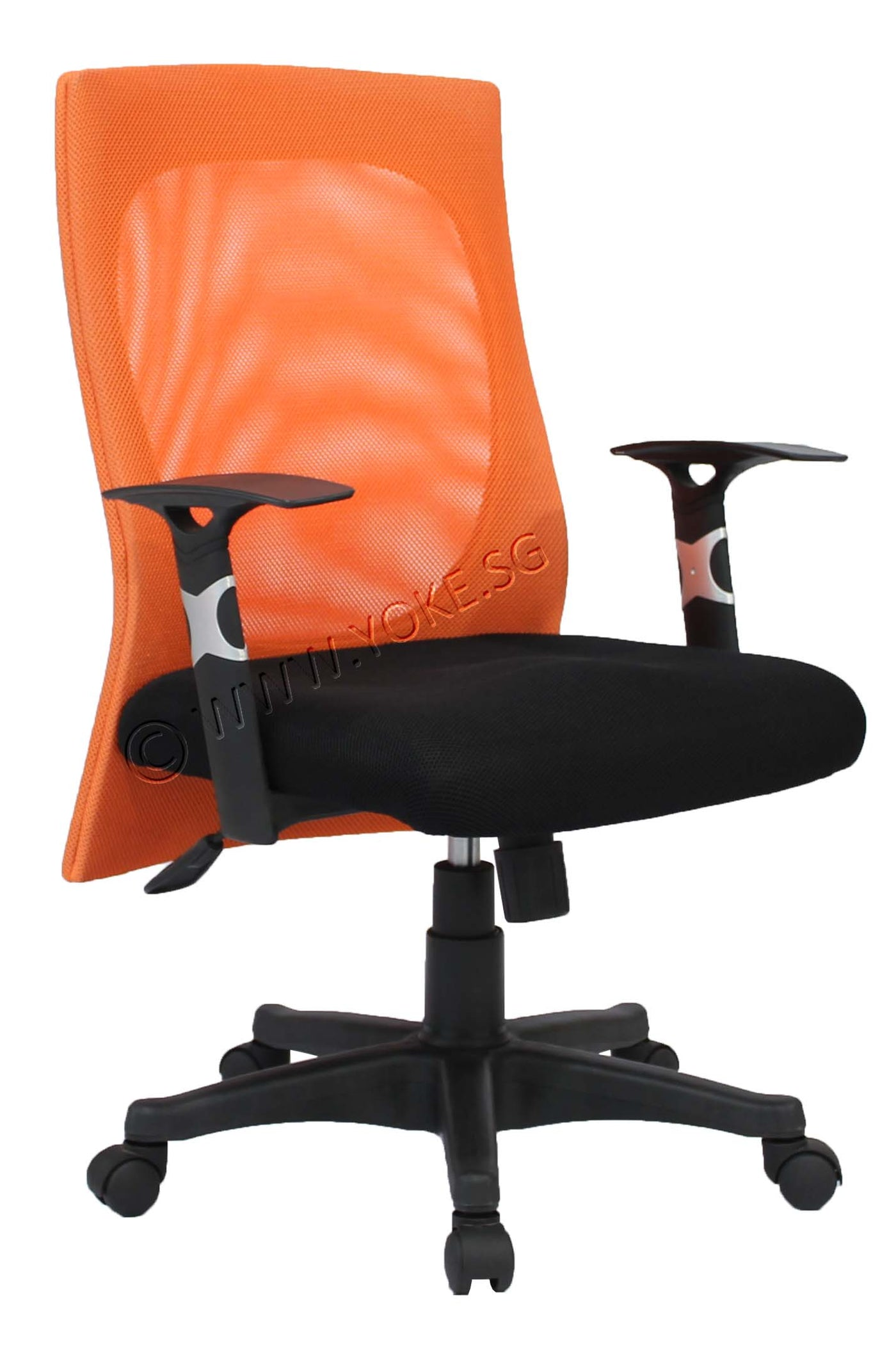 Yoe 6 Low Back Mesh Chair With Armrest