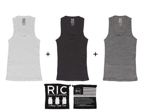 Tank Top Salt and Pepper 3 Pack