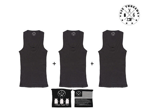 Tank Top Black Out 3 Pack