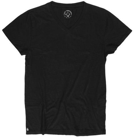 Men's Cotton Black V-Neck
