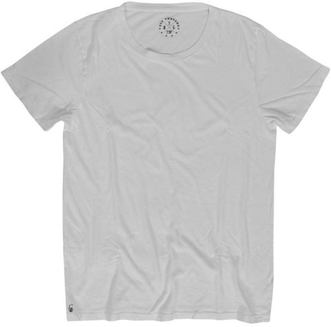 Men's Cotton White Crew Neck