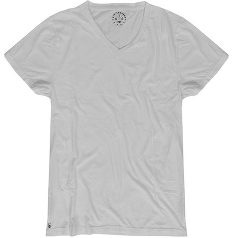 Men's Cotton White V Neck