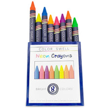 Load image into Gallery viewer, Color Swell Neon Crayon Pack - One Box of Fun Neon Crayons (8 Crayons per Box)
