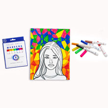 Load image into Gallery viewer, Color Swell Washable Markers with 8 Vibrant Colors