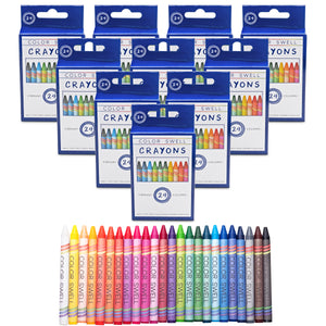 Color Swell Crayon Bulk Pack (10 Packs, 24 Crayons/Pack)