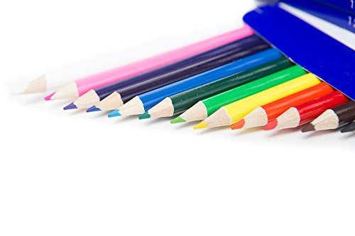 Color Swell Colored Pencil Pack 12 Count Assorted Vibrant Pre-Sharpened Colors