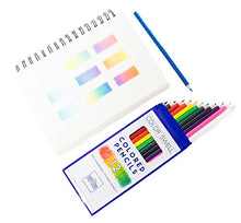 Load image into Gallery viewer, Color Swell Colored Pencil Pack 12 Count Assorted Vibrant Pre-Sharpened Colors