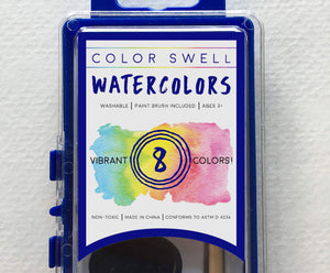 10 Pack of Watercolor Paints (8 Colors per Pack) by Color Swell