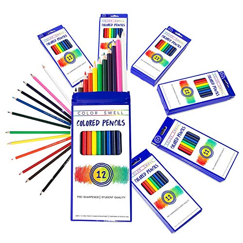 Color Swell Bulk Colored Pencils Pack (12 Packs, 12 Pencils/Pack)