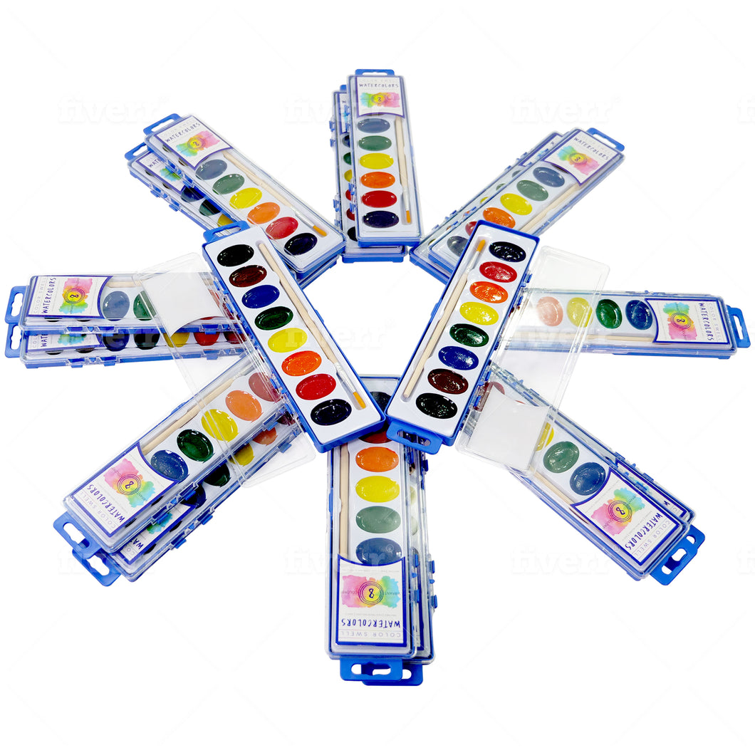 Color Swell Bulk Watercolors (18 Packs)