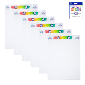 Color Swell Bulk Easel Pads (6 Pack) Plus Bonus Marker Pack