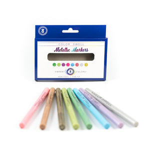 Color Swell Metallic Markers (8 Markers per Pack) for All Types of Artists