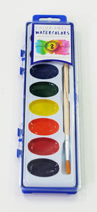 Mixed Art Pack of Watercolors (12), Crayons (12), Markers (12) by Color Swell