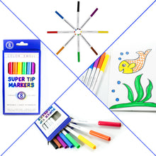 Load image into Gallery viewer, Color Swell Super Tip Washable Markers Bulk Pack 18 Boxes of 8 Vibrant Colors (144 Total)