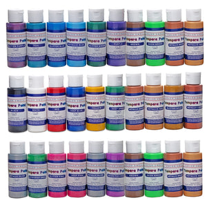 Color Swell Washable Tempera Paint Set - 30 Colors in 2 oz Bottles are Perfect for Kids Adults Parties Students Classroom Bulk