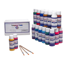 Load image into Gallery viewer, Color Swell Washable Tempera Paint Set - 30 Colors in 2 oz Bottles are Perfect for Kids Adults Parties Students Classroom Bulk