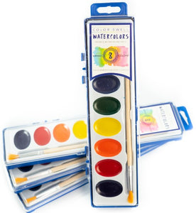 4 Pack of Watercolor Paints (8 Colors per Pack) by Color Swell