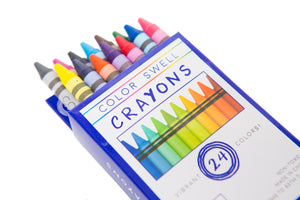 Art Box With Your Name on the Label! 5 Boxes of Crayons, 2 Watercolors, 2 Markers, 2 Drawing Pads