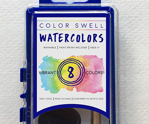 36 Pack of Watercolor Paints (8 Colors per Pack) by Color Swell