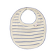 Stripes Bib Light Cream Iris Blue Tiny Cottons Lebanon