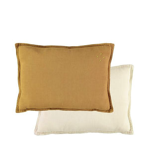 Two Tone Cushion Ochre Champagne