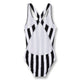 Olivia Stripes Swimsuit Black