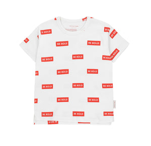 Be Bold Tee Off White Red