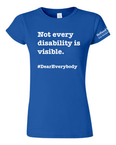 Royal blue - Women's fit Gildan t-shirt - 'Not every disability is visible'
