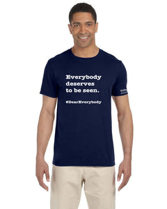 Navy - Adult Unisex Softstyle Gildan t-shirt - 'Everyone deserves to be seen'