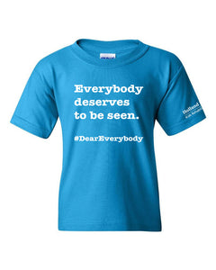 Sapphire - Youth Heavyweight Cotton Gildan t-shirt - 'Everyone deserves to be seen'