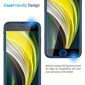 Inskin Case-Friendly Tempered Glass Screen Protector w/Application Frame, fits iPhone SE 2nd Generation [SE 2020]. 2-Pack. - Inskin Inc.