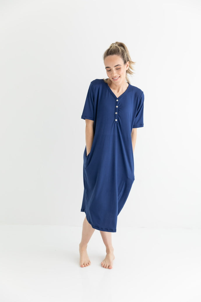 döz Sleep Dress in Navy