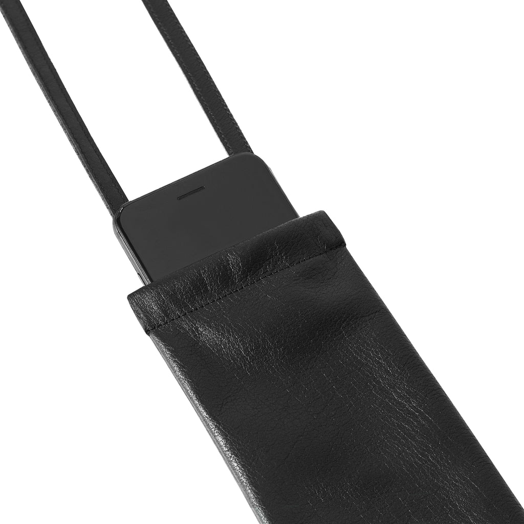 KNOK Leather Pouch- Black