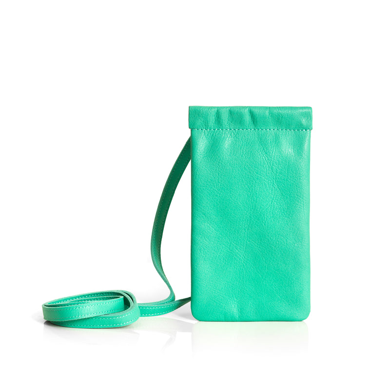 KNOK Leather Pouch- Green
