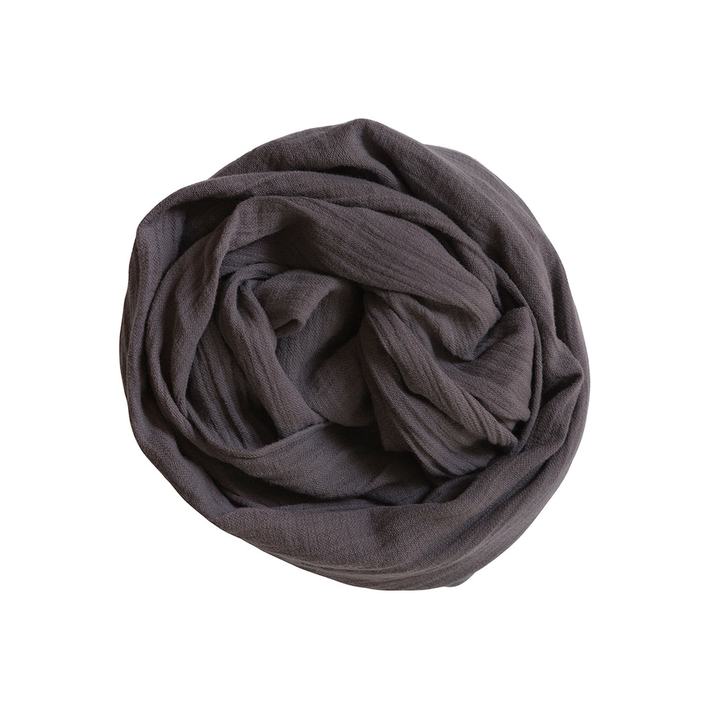100% scarf _ charcoal