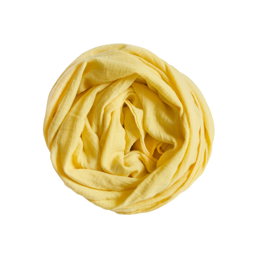 100% scarf _ light yellow