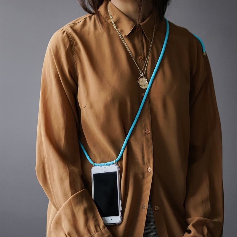 Phone Necklace - Reflect Neon Turquoise - KNOK Berlin