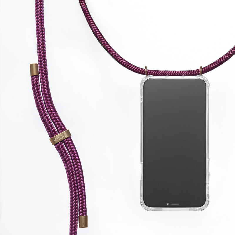 Phone Necklace - Wine - KNOK Berlin