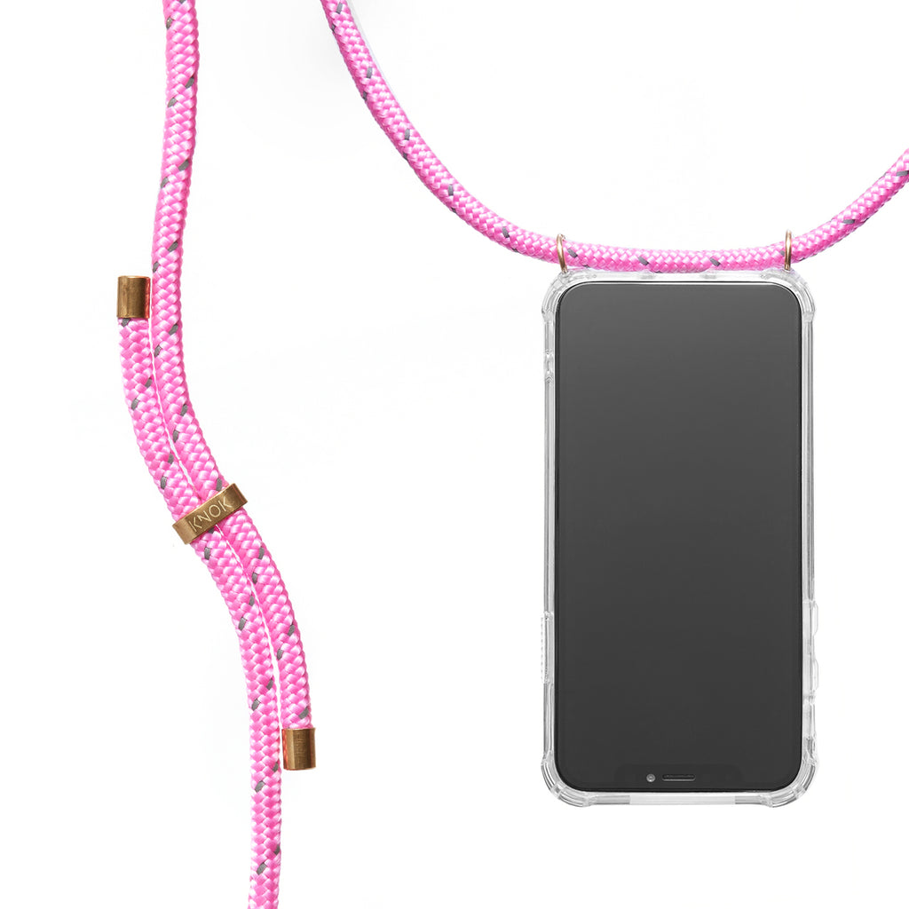 Phone Necklace - Reflect Neon Pink - KNOK Berlin