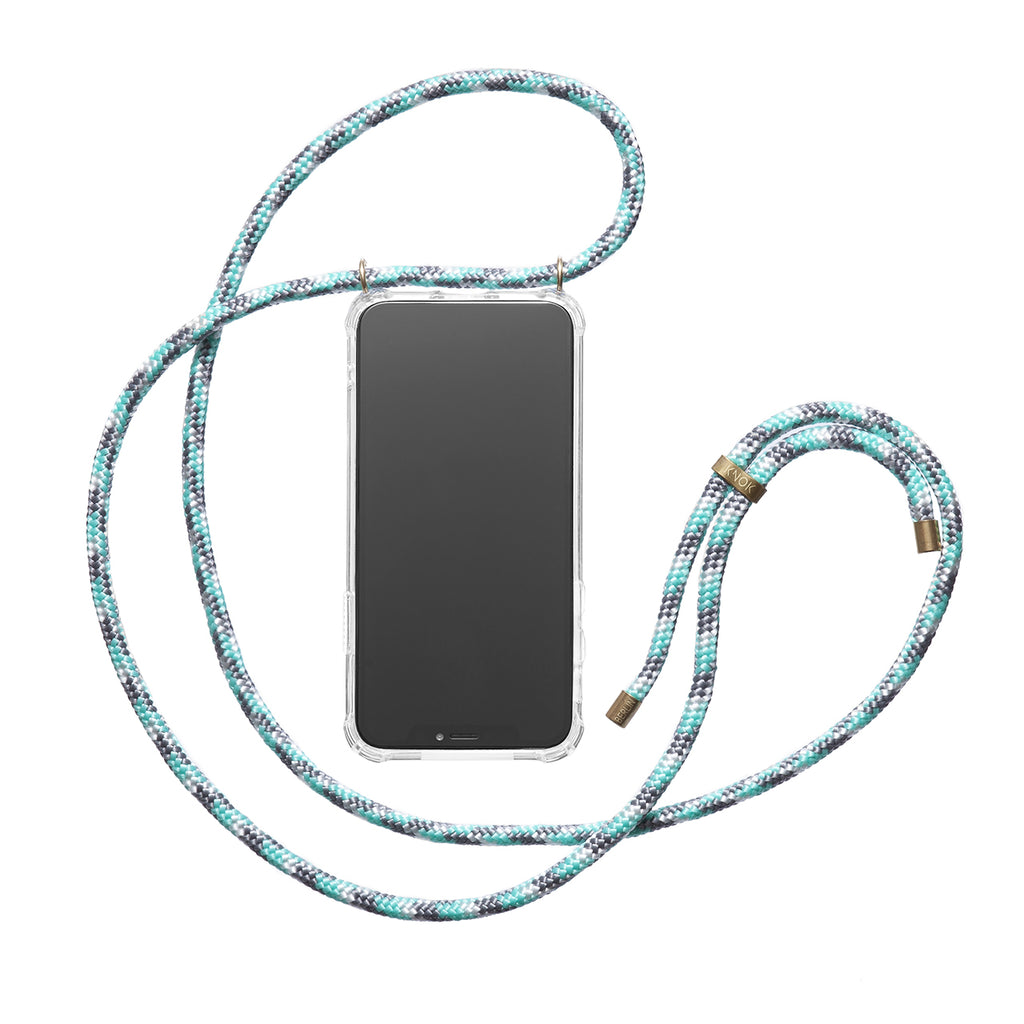 Phone Necklace - Mint Camo - KNOK Berlin